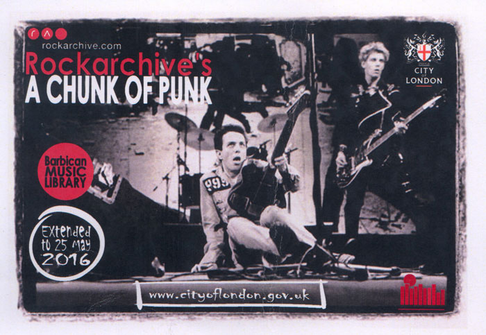 chunk of Punk Exhibition Barbican.