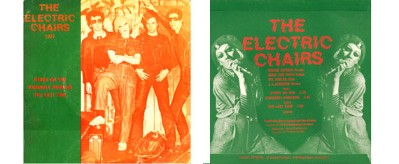 The Electric Chairs EP covers fron t and back